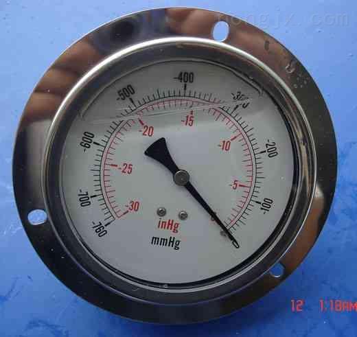 供应轴向充油耐震真空压力表