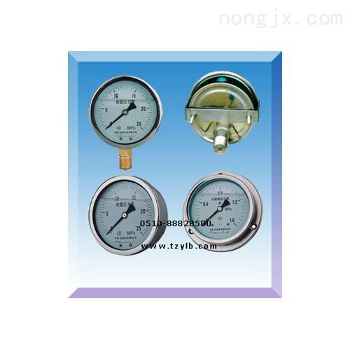 方形边耐震压力表(YN-50ZQ/YN60ZQ/YN75Z)