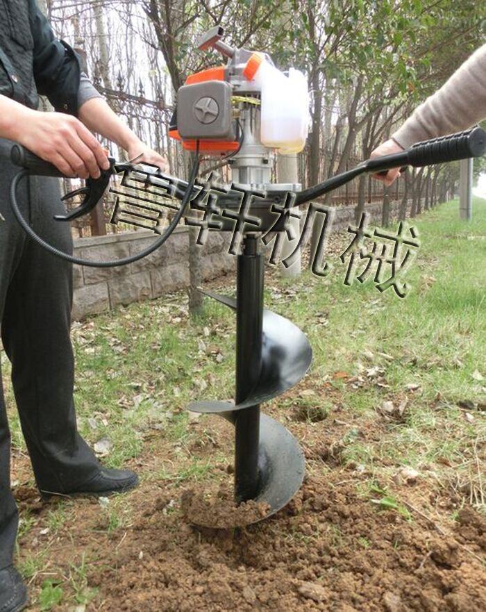 高效率耐磨打坑機 小型栽樹挖坑機  柱子打眼機圖片