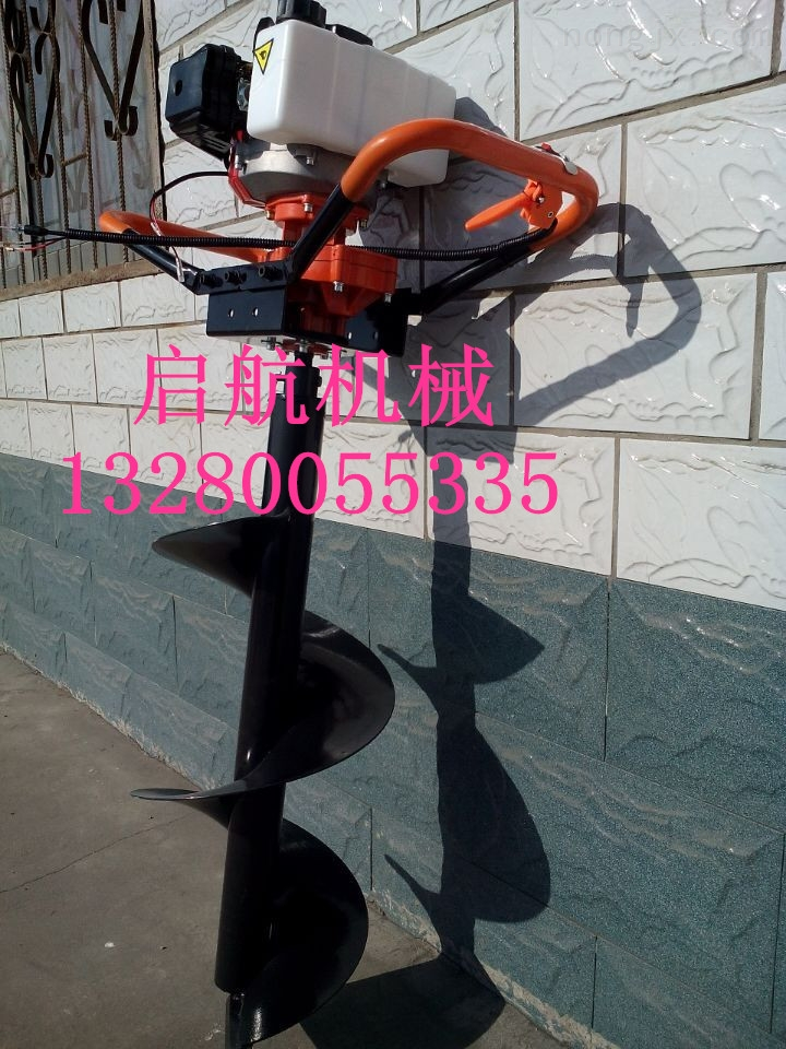 QH-WKJ-农用汽油手提式钻孔机 华圣小型栽树挖坑机图片