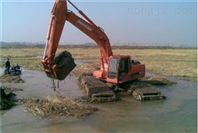 供应广西清淤设备水陆两用挖掘机包月出租批发