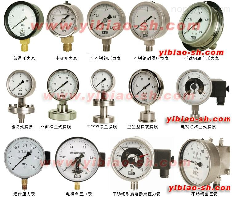 Y-100A-Z/Z/MC 卫生型隔膜压力表-上海自动化仪表