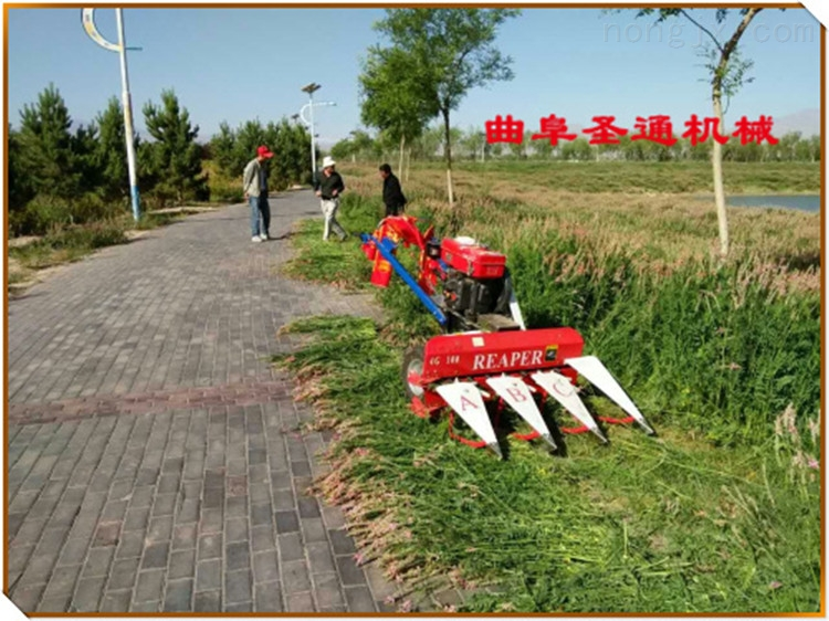割茬低败酱草收割机 手扶式小型谷物收割机