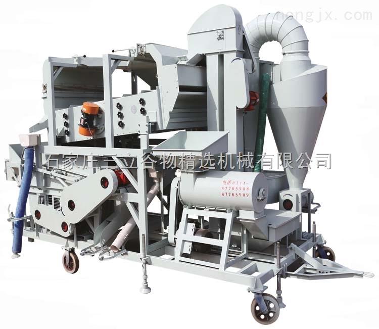复式精选机带小麦脱壳机 复合型种子精选机 大型玉米清粮机