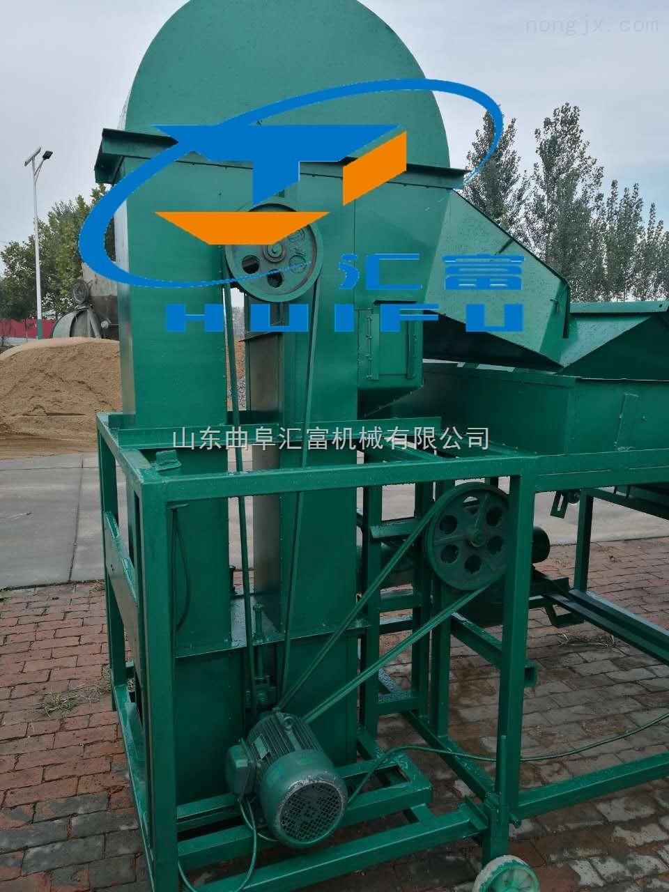 hf-30-小麥清雜機/清理癟粒小麥的篩選機/震動風選糠殼糧食清選機