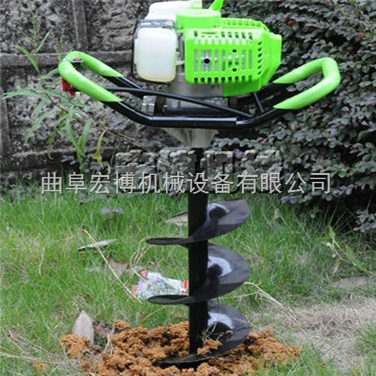 手提汽油植树钻坑机