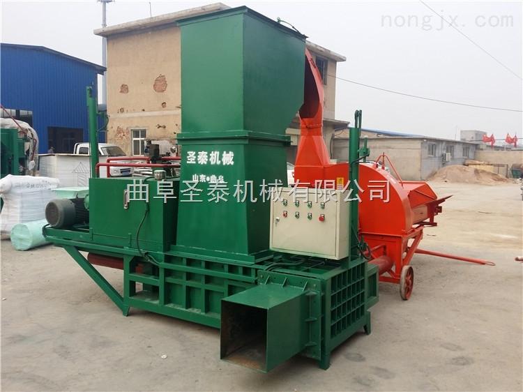 乳酸发酵青贮秸秆打包机 草料压块机