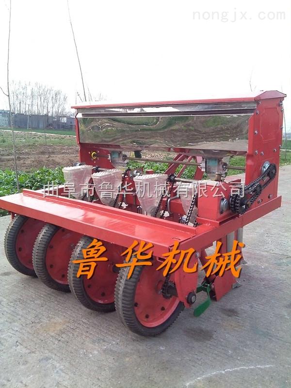 小麦免耕施肥播种机 小型手推2行播种机 播种蔬菜籽精播机