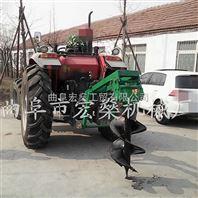 四轮拖拉机后面带植树挖坑机 挖树坑机器