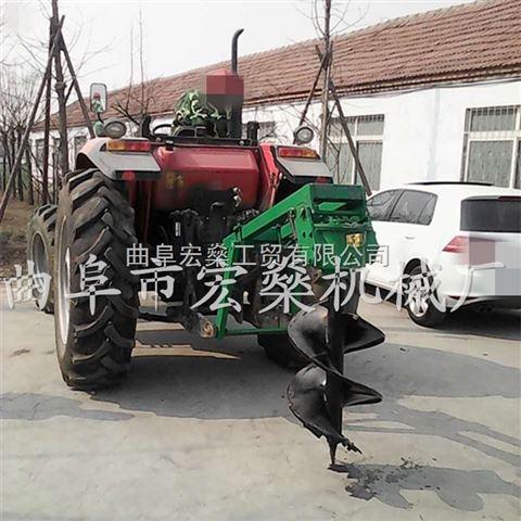 四冲程植树挖坑机 小拖拉机带动钻眼机