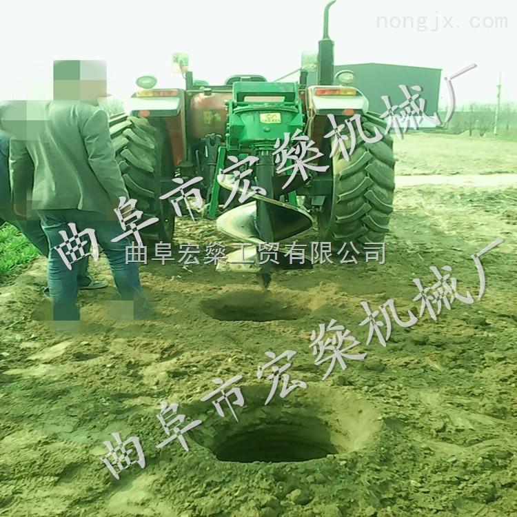 大马力拖拉机植树挖坑机 四冲程大马力钻坑机