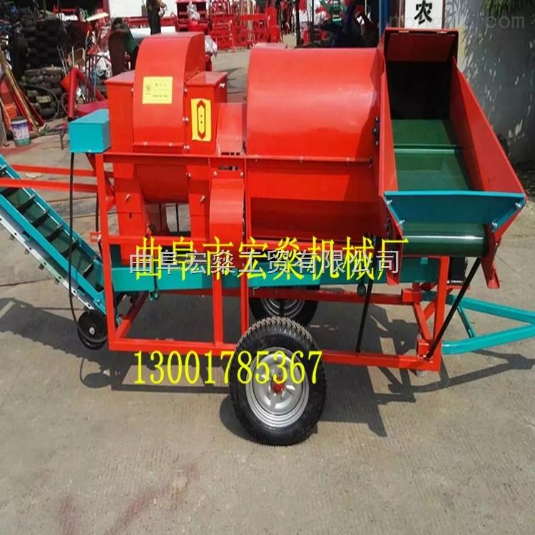 柴油机带动花生摘果机 自走式干湿两用花生摘果机