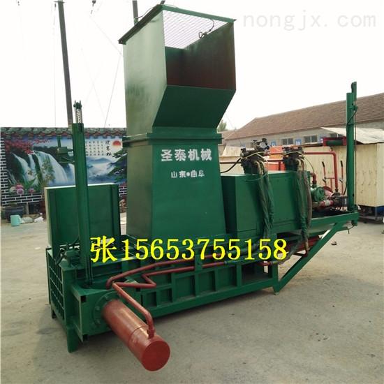 蛟河玉米秸秆压块机  套袋牧草青储压块机