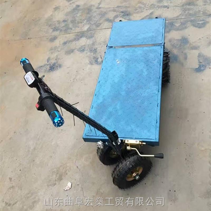 蔬菜大棚電動小推車 電動手推平板車搬運車