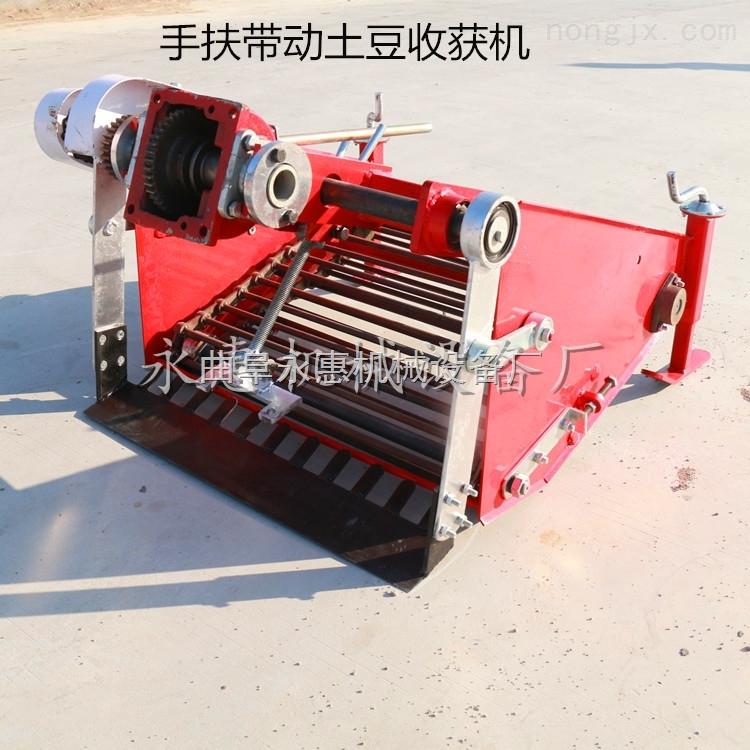 单拢土豆收获机价格,手扶拖拉机带动的马铃薯收获机