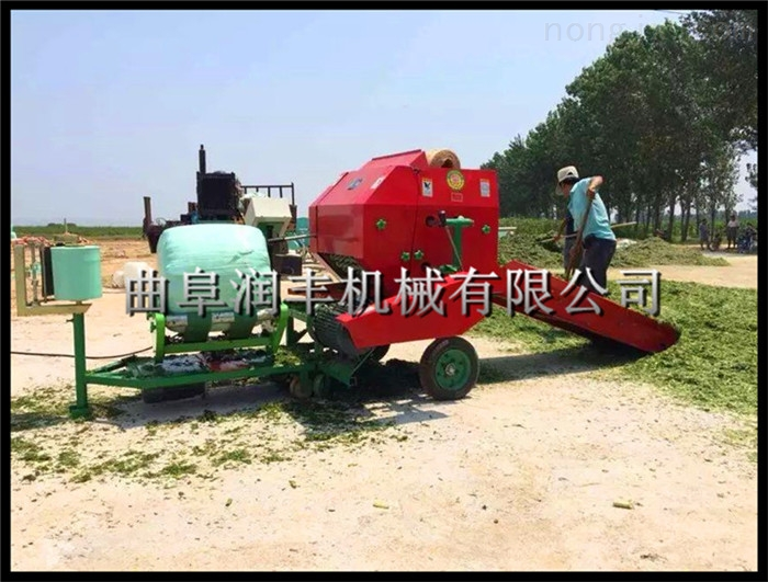 饲草包膜机型号 快速打包使用的包膜压捆机
