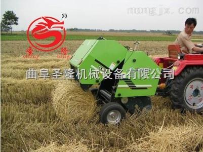 四轮拖拉机带动玉米秸秆捡拾打捆机报价