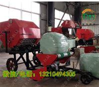捆扎玉米杆子包膜机 养殖业稻草打捆机生产