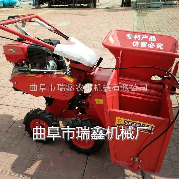 玉米秸秆还田收获机 手推式玉米收获机 家用掰玉米收获机
