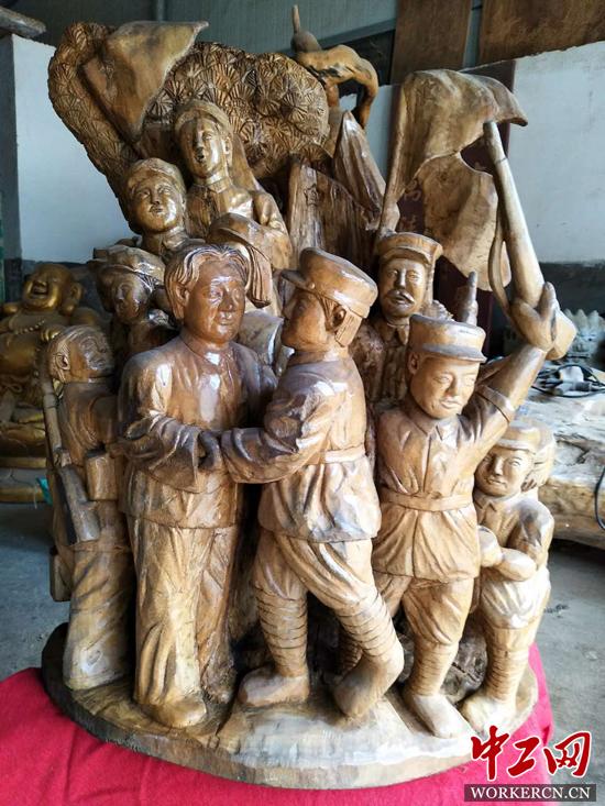 汪擎昊: 既当全省种粮大户 又成根雕艺术大师