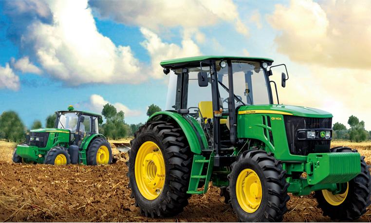 约翰迪尔超强悍纯电动农用拖拉机