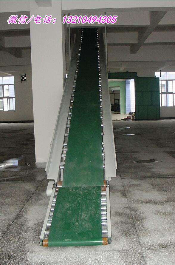各种规格皮带机 皮带输送机 装卸货物皮带输送机 型号参数:皮带 带宽有B500、B600、B650、B800等,长度有6米、8米、10米、12米、15米等多种规格,倾斜角在25°以内为佳,一般6米的移动式皮带机能升到2.1米左右,8米的能升到3米左右,10米的能升到3.8米左右,12米的能升到4.
